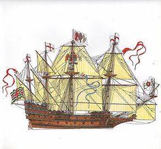 Ship Drawing, Tall Ships, Model Ships, Historical Society, Modern Prints, 16th Century, Legos, Old World, Sailing Ships