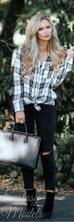Falling For Flannel // Fashion Look by Stephanie Danielle