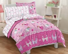 Kids Twin Bed Bedding set princess girls pink disney toddler dream factory new Little Girls Bedding Sets, Teal Bedding Sets, Girls Comforter Sets, Teen Girl Bedding, Kids Bedding Sets, Twin Comforter, Girls Bedroom, Console, Bed Spreads