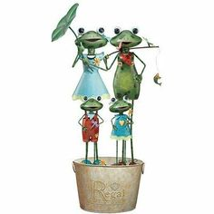 Frog Family Assortment Garden Statue by Regal Art & Gift. $399.00. Frog Family Assortment 12 pcs.. Frog Family Garden D cor Asst.. Product is made of thick gage metal with 8-12 layers of automotive paint.. It is powder coated for durability.. REGAL50009 Features: -Made of thick gage metal with 8-12 layers of automotive paint.-Powder coated for durability.-12 Pieces. Collection: -Frog collection.
