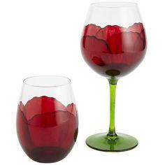 Poppy Inspired Wine Glasses. Yay!