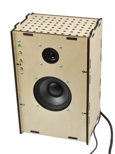 Laser-cut Speaker with Amplifier #tech #plywood #home #decor #audio #music