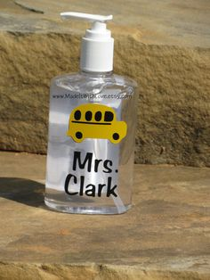 Hey, I found this really awesome Etsy listing at https://www.etsy.com/listing/120627254/personalized-hand-sanitizer-school-bus