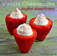 vanilla cheesecake stuffed strawberries