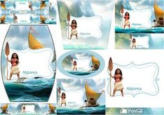 Moana: Free Printable Candy Bar Labels.