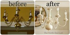 how to paint brass chandelier Brass Chandelier Makeover, Light Fixture Makeover, Lamp Makeover, Gold Chandelier, Chandelier Lighting, Painting Chandeliers, Spray Painted Chandelier, House Lighting, Spray Paint Crafts