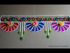 Diwali special easy colorful rangoli design | Innovative Rangoli designs by Poonam Borkar - YouTube
