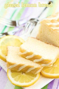 Glazed Lemon Bread - TIP: You can also make this recipe in mini muffin or regular muffin sized tins as well for perfect individual portions too! Or try making it in a bundt pan (or mini bundt pan)!