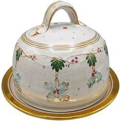 Ceramic Christmas Casserole Dish Platter by British Pottery Artist Gordon Fox