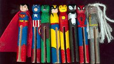 clothes pin swap idea...(thinking of my grandson's love of super heroes....kj)