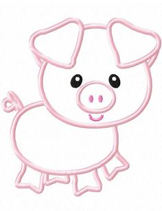 Pig Applique embroidery Design - farm animal appliqué design - farm appliqué design - pig applique design  This little pig appliqué design lives on the farm with lots of other cute animal appliqué designs  Comes in 6x10, 5x7 and 4x4 sizes  xxx, pes, vip, hus, sew, jef and dst   www.jazzyzebra.com  This is not a physical item, paper pattern or a patch. This is a file for a embroidery machine.  Please send me a message if you need an embroidery file type that is not listed above.   Artwork by…