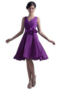 Dresstells V-neck Knee-length Chiffon Bridesmaid Dress Party Prom Short Evening Gown for Juniors Plus Size 20W Purple Dresstells http://www.amazon.com/dp/B00DG7KT2S/ref=cm_sw_r_pi_dp_cSn9ub07G9D73