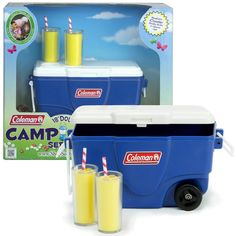 Coleman® Cooler Set, 2 Colors- toys for American Girl® and other 18 inch dolls