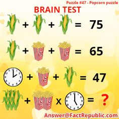 Puzzle – Fruit Puzzle Answer Answer is 8 Mangoes + 4 apples + 5 oranges + 6 tomatoes (Yes totmato is technically a fruit). Puzzle – Brain Test Puzzle Answer Answer is 12 / 2 + / 2 x x [. Brain Teasers Pictures, Brain Teasers With Answers, Math Logic Puzzles, Math Quizzes, Mind Puzzles, Brain Teaser Questions, Math Questions, Brain Test Games, Brain Tests