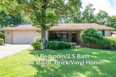 WELL KEPT, LOW MAINTENANCE 2 BR/2.5 BA brick/vinyl home in a desirable city neighborhood! Move-in Ready! Open concept, large rooms, cozy brick fireplace in family room, large 2C garage w/ built-ins. 4 Season Room overlooks the well manicured back yard. Convenient kitchen w/gas range, plenty of cabinet space. Peaceful, level, shaded yard. Covered, shaded front porch. Close to medical, restaurants, shops, Bull Shoals, Norfork Lakes, White, Norfork, Buffalo Rivers in Mountain Home AR
