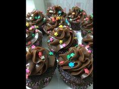 Coberturas para Cupcakes - Brigadeiro Preto, Branco e Colorido - YouTube