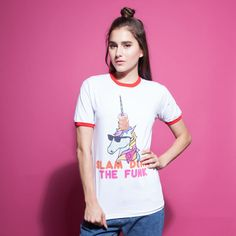 Time to get funky and become a unicorn. This Ringer T-shirt would look great paired with our Fun For All Overalls. 100% Cotton Returns and Exchanges Policy