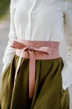 Obi Belt, Classic Skirts, Ribbon Belt, Belts For Women, Pink Color, Creations, Vintage Fashion, Feminine, Etsy