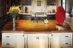 kitchens with butcher block countertops - Google Search