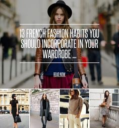 13 French Fashion Habits You Should Incorporate in Your Wardrobe ... - Fashion [ more at http://fashion.allwomenstalk.com ] While French fashion habits are very easy to apply to your own wardrobe, many women are under the assumption that it's rather difficult. French women are known for their elegance and femininity, as well as their casual chic appearance, yet when looking at their clothes, it seems they're not wearing anything special. So... #Fashion #Sleeved #Wardrobe #Blouses #Buy…