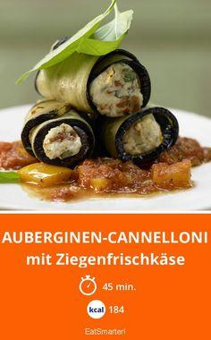 Auberginen-Cannelloni - mit Ziegenfrischkäse - smarter - Kalorien: 184 kcal - Zeit: 45 Min. | eatsmarter.de