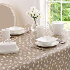 Daisy Round PVC Tablecloth