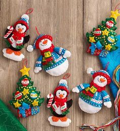 Trimming the Tree Christmas Ornaments - Felt Applique Kit