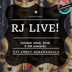 Ahoy! #Bangalore...UR MUSIC COMES CALLING THIS WEEKEND!  When RJ LIVE starts to play this Sat @ #Eatstreet dont blame us at Localturnon IF U get pulled into their Music ...hands- feet -mind -heart -soul et all ! Its going to be one rocking evening surely :)  Pull a band for ur kinda music @ www.localturnon.com/bookings  #turnon #music || #turn #on #happiness || #turn-on #life !!