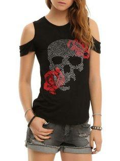 ^♥^ Skull & Roses Cold Shoulder Top - http://www.amazon.com/Skull-Roses-Cold-Shoulder-Size/dp/B00J0TQ78Q?SubscriptionId=AKIAIGOODQU72FTHDVNA&tag=goreydetails-20&linkCode=xm2&camp=2025&creative=165953&creativeASIN=B00J0TQ78Q