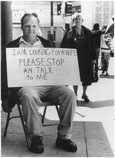 I bet he's still looking.