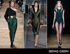 Top Fall Trend: Seeing Green | via @The Zoe Report