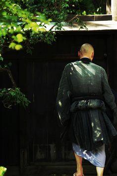 Monk at Enkoji Temple, Japan