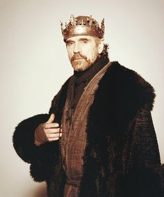 jeremy irons as king henry iv in the hollow crown