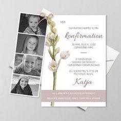 Konfirmationsinvitationer - Få designet din egen skabelon - Se her Bullet Journal Inspiration, Note To Self, Creative Business, Origami, Mockup, Frame, Sweet, A5, Invitations