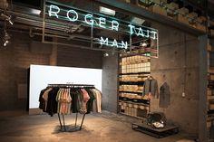 Roger Tait Man pop-up store by Loop Creative, Sydney – Australia