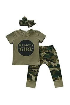 Amazon.com : cute spring outfits Newborn Girl Outfits, Baby Girl Newborn, Kids Outfits, Casual Outfits, Baby Boys, Baby Crib, Pants Outfit, Outfit Sets, Camouflage Shorts