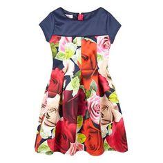 Baker by Ted Baker Girls' navy rose print dress- | Debenhams
