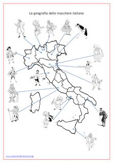 Crescere Creativamente: per bambini e non solo: La geografia delle maschere italiane