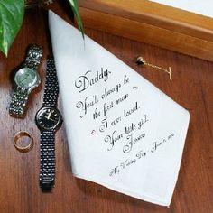 Personalized Wedding Handkerchief | Personalized Hanky | Custom Father Handkerchief