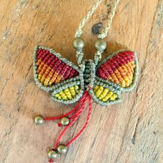 Macrame Butterfly Necklace by Mediterrasian