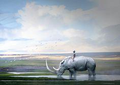 (Y-post r/Art) Kid on a Rhino