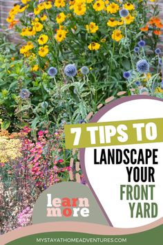 You are trying to find out how to landscape your front yard without breaking the bank. Here are 7 helpful tips to get your landscaping project started. Front Yard Landscaping Pictures, Landscaping With Rocks, Landscaping Tips, Wisconsin Landscaping Ideas, Front Garden Landscaping, Southern Landscaping, Tropical Landscaping, Perennial Garden Plans, Landscape Plans