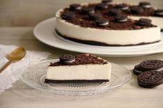 Tarta de chocolate blanco y galletas Oreo » Recetas Thermomix | MisThermorecetas