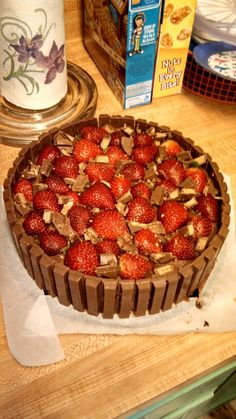 Our attempt at making the strawberry chocolate kitkat cake nailed it! Lol