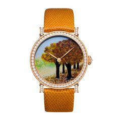 The #DeLaneau #Autumn watch, also created using pointillism enamelling…