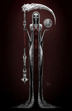 Santa Muerte. By Isaac Trujillo different,and very elegantly done. Beautiful