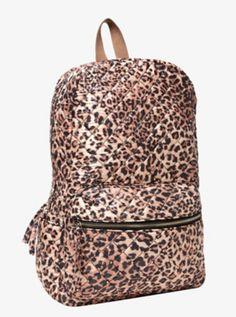 Studded Leopard Backpack