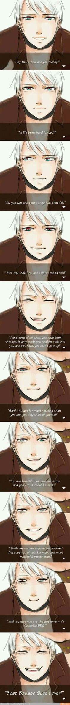 "Thank you Prussia, you made me smile today :"")"