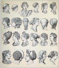 Ancient roman hairstyles of woman and men. | Costume History