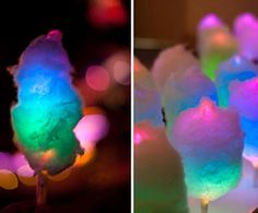 Glowing cotton candy...